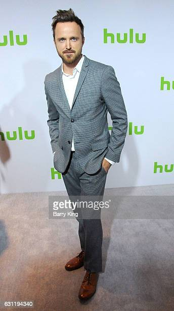 Actor Aaron Paul attends the 2017 Winter TCA Tour Hulu TCA Winter Press Tour Day at Langham Hotel on January 7 2017 in Pasadena California