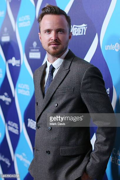 Actor Aaron Paul attends the 2nd Annual unite4humanity presented by ALCATEL ONETOUCH at the Beverly Hilton Hotel on February 19 2015 in Los Angeles...