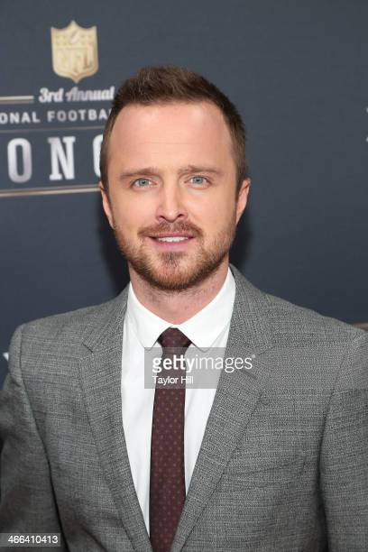 Actor Aaron Paul attends the 3rd Annual NFL Honors at Radio City Music Hall on February 1 2014 in New York City