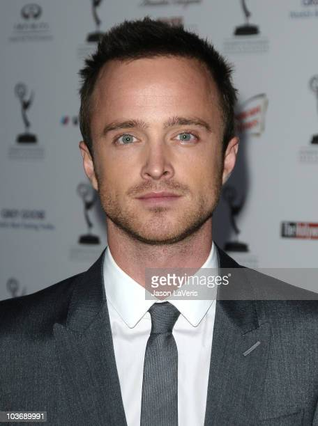 Actor Aaron Paul attends the 62nd primetime Emmy Awards performers nominee reception at Pacific Design Center on August 27 2010 in West Hollywood...