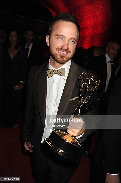 Actor Aaron Paul attends the 64th Primetime Emmy Awards Governors Ball at Los Angeles Convention Center on September 23, 2012 in Los Angeles,...