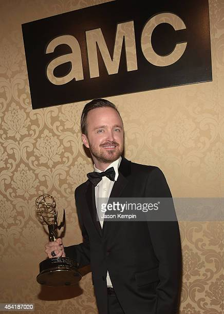 Actor Aaron Paul attends the AMC IFC And Sundance Channel's Primetime Emmy Awards Party 2014 at BOA Steakhouse on August 25 2014 in West Hollywood...