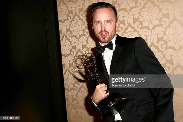 Actor Aaron Paul attends the AMC IFC And Sundance Channel's Primetime Emmy Awards Party 2014 held at BOA Steakhouse on August 25 2014 in West...