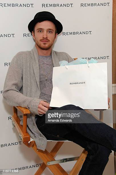 Actor Aaron Paul attends The Belvedere Luxury Lounge in honor of the 80th Academy Awards featuring Rembrandt held at the Four Seasons Hotel on...