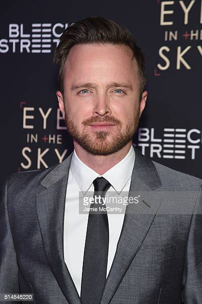 Actor Aaron Paul attends the 'Eye In The Sky' New York Premiere at AMC Loews Lincoln Square 13 theater on March 9 2016 in New York City