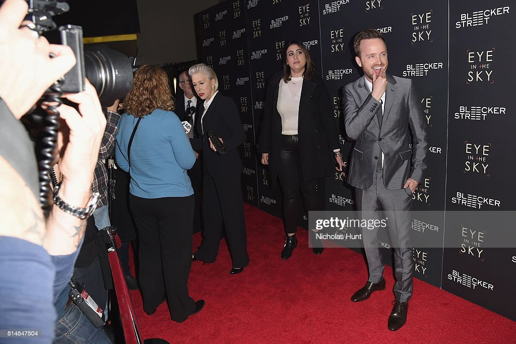 Actor Aaron Paul attends the 'Eye In The Sky' New York Premiere at AMC Loews Lincoln Square 13 theater on March 9, 2016 in New York City.