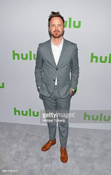 Actor Aaron Paul attends the Hulu TCA Winter Press Tour Day at Langham Hotel on January 7 2017 in Pasadena California