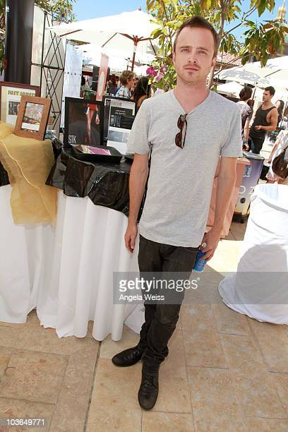 Actor Aaron Paul attends the Kari Feinstein Primetime Emmy Awards Style Lounge Day 1 held at Montage Beverly Hills hotel on August 26 2010 in Beverly...