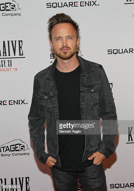 Actor Aaron Paul attends the 'Kingsglaive Final Fantasy XV' New York premiere at AMC Empire 25 theater on August 18 2016 in New York City