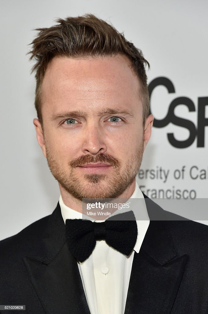 Actor Aaron Paul attends the launch of the Parker Institute for Cancer Immunotherapy, an unprecedented collaboration between the country's leading immunologists and cancer centers on April 13, 2016 in Los Angeles, California.