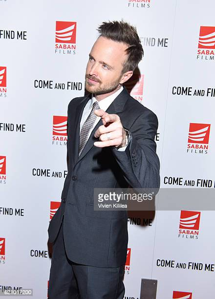 Actor Aaron Paul attends the Los Angeles Special Screening Of Come And Find Me at the Pacific Theatre at The Grove on November 3 2016 in Los Angeles...