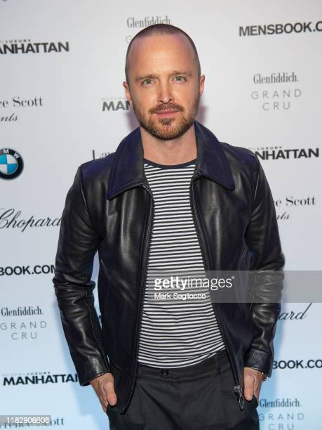 Actor Aaron Paul attends the Manhattan Magazine and Mensbook.com Celebration of Cover Star Aaron Paul at BMW of Manhattan on October 22, 2019 in New...