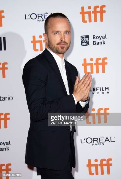 Actor Aaron Paul attends the premiere of American Woman during the Toronto International Film Festival on September 9 in Toronto Ontario Canada