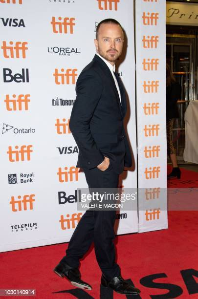 "Actor Aaron Paul attends the premiere of ""American Woman"" during the Toronto International Film Festival, on September 9 in Toronto, Ontario, Canada."