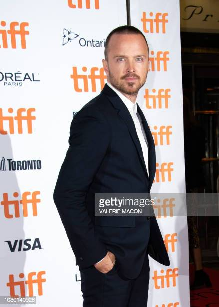 """Actor Aaron Paul attends the premiere of """"American Woman"""" during the Toronto International Film Festival, on September 9 in Toronto, Ontario, Canada."""