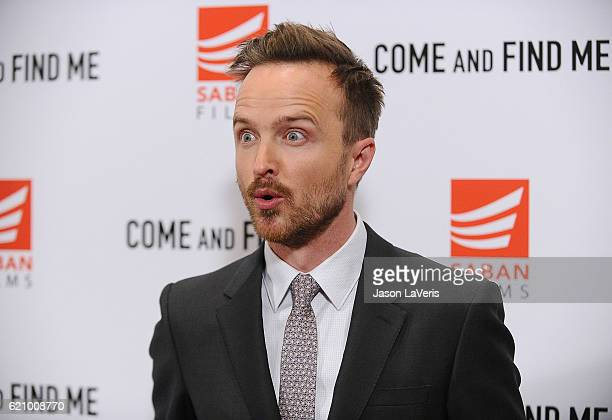 Actor Aaron Paul attends the premiere of 'Come and Find Me' at Pacific Theatre at The Grove on November 3 2016 in Los Angeles California