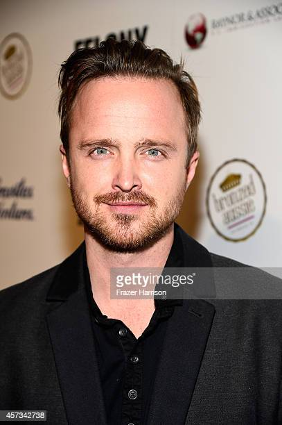 Actor Aaron Paul attends the Premiere Of 'Felony' presented by Australians in Film Red Carpet at Harmony Gold Theatre on October 16 2014 in Los...