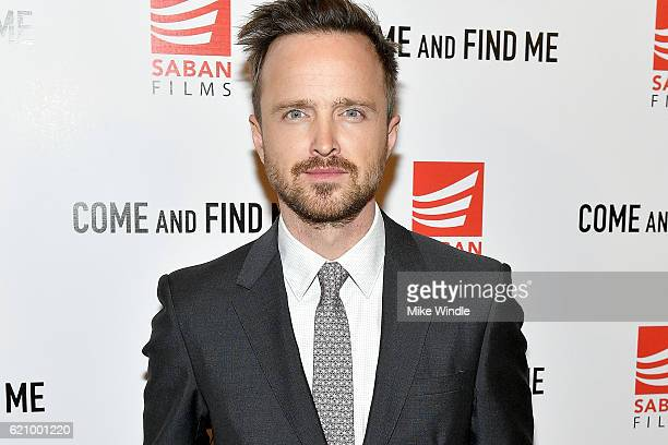 Actor Aaron Paul attends the premiere of Saban Films' Come And Find Me at Pacific Theatre at The Grove on November 3 2016 in Los Angeles California