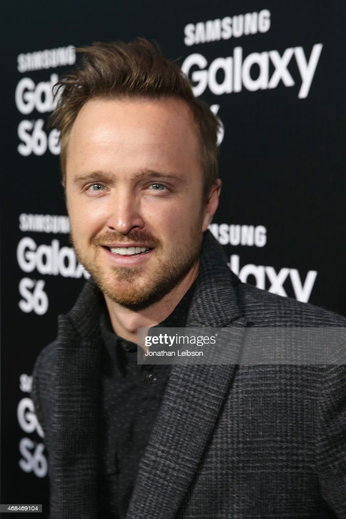 Actor Aaron Paul attends the Samsung Galaxy S 6 edge launch on April 2, 2015 in Los Angeles, California.