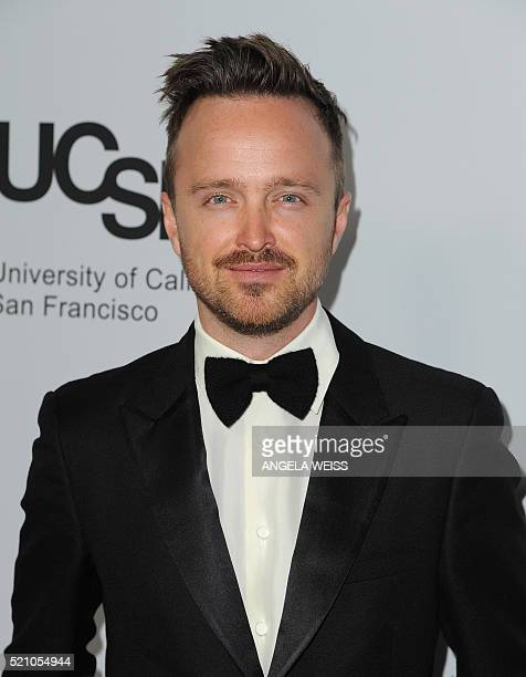 Actor Aaron Paul attends the Sean Parker and the Parker Foundation celebration for the Launch of The Parker Institute for Cancer Immunotherapy, in...