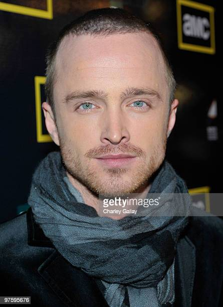 Actor Aaron Paul attends the Season Three premiere of AMC and Sony Pictures Television's 'Breaking Bad' at the ArcLight Hollywood Cinemas on March 9,...