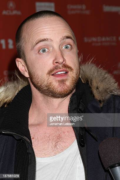 Actor Aaron Paul attends the Smashed premiere during the 2012 Sundance Film Festival held at Library Center Theater on January 22 2012 in Park City...