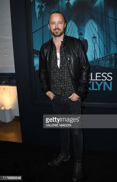 "Actor Aaron Paul attends the special screening of Warner Bros Pictures' ""Motherless Brooklyn"" in Los Angeles, on October 28, 2019."