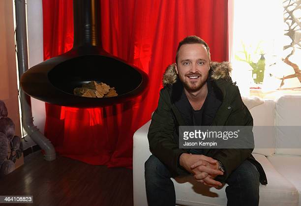 Actor Aaron Paul attends the Stella Artois At The Village At The Lift Day 4 2014 Park City on January 20 2014 in Park City Utah