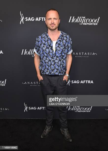 Actor Aaron Paul attends the The Hollywood Reporter and SAG-AFTRA Celebrate the 2019 Class of Emmy Nominees event at AVRA in Beverly Hills,...