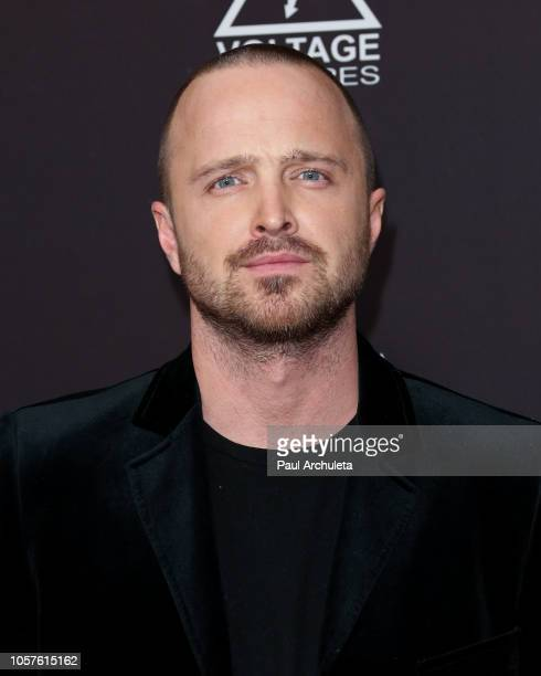 "Actor Aaron Paul attends the ""Welcome Home"" premiere at The London West Hollywood on November 4, 2018 in West Hollywood, California."