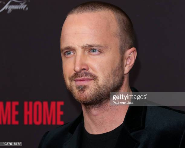 Actor Aaron Paul attends the Welcome Home premiere at The London West Hollywood on November 4 2018 in West Hollywood California