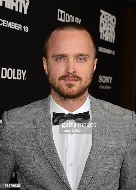 Actor Aaron Paul attends the Zero Dark Thirty Los Angeles Premiere at Dolby Theatre on December 10 2012 in Hollywood California