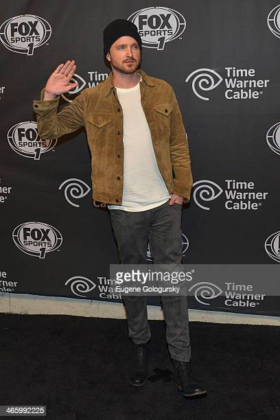 Actor Aaron Paul attends Time Warner Cable Studios Presents FOX Sports 1 Thursday Night Super Bash on January 30, 2014 in New York City.