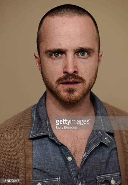 Actor Aaron Paul poses for a portrait during the 2012 Sundance Film Festival at the Getty Images Portrait Studio at T-Mobile Village at the Lift on...