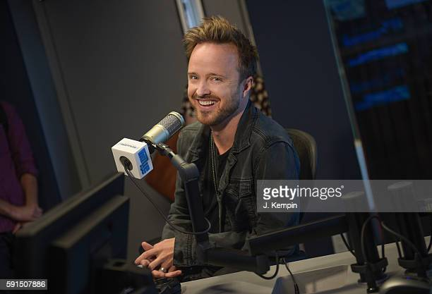 Actor Aaron Paul visits SiriusXM at SiriusXM Studio on August 17 2016 in New York City