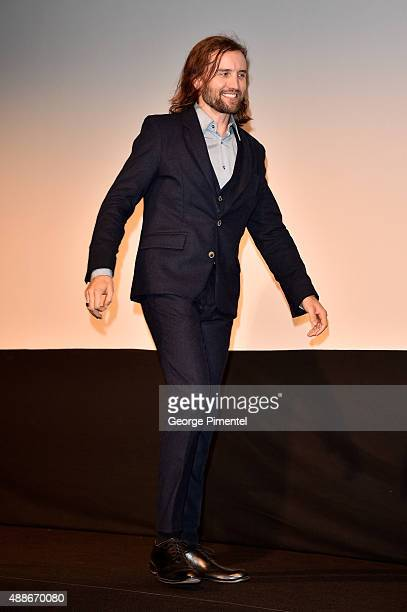 Actor Aaron Poole attends the Forsaken premiere during the 2015 Toronto International Film Festival at Roy Thomson Hall on September 16 2015 in...