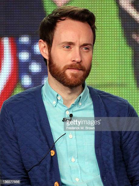 Actor Aaron Ruell speaks onstage during the 'Napoleon Dynamite' panel during the FOX Broadcasting Company portion of the 2012 Winter TCA Tour at The...
