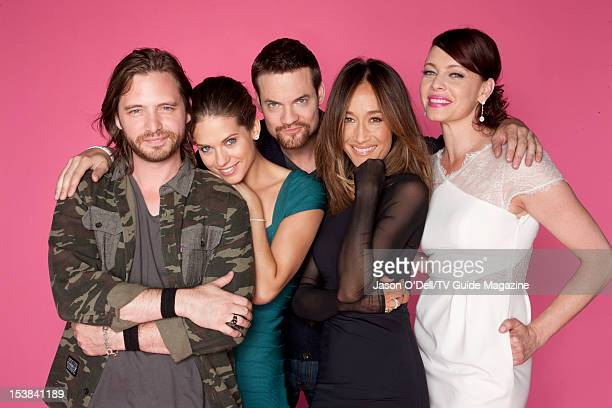 Actor Aaron Stanford Lyndsy Fonseca Shane West Maggie Q and Melinda Clarke are photographed for TV Guide Magazine on July 13 2012 on the TV Guide...
