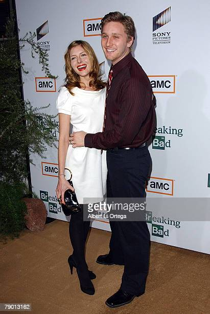 Actor Aaron Staton and wife Connie arrive at the Premiere Screening of AMC's new Sony Pictures' Television drama Breaking Bad held on January 15 2008...
