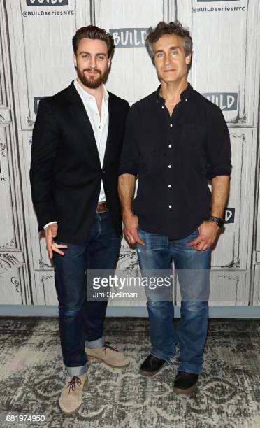 Actor Aaron Taylor Johnson and director Doug Liman attend Build to discuss the new film 'The Wall' at Build Studio on May 11 2017 in New York City