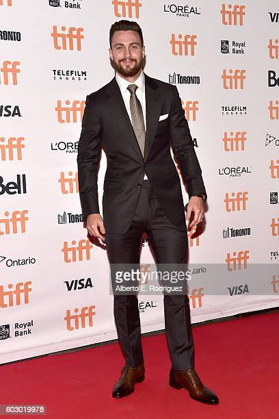 Actor Aaron Taylor Johnson attends the 'Nocturnal Animals' premiere during the 2016 Toronto International Film Festival at Princess of Wales Theatre...