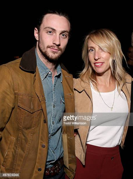 Actor Aaron TaylorJohnson and director Sam TaylorJohnson attend Fox Searchlight's 'Youth' movie premiere after party sponsored by Hennessy Paradis...