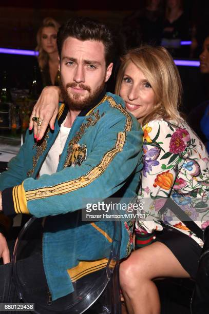 Actor Aaron TaylorJohnson and Sam TaylorJohnson attend the 2017 MTV Movie And TV Awards at The Shrine Auditorium on May 7 2017 in Los Angeles...