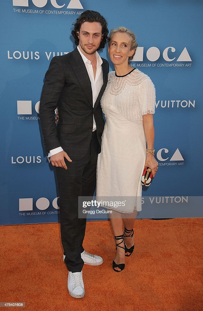Actor Aaron Taylor-Johnson and wife director Sam Taylor ...