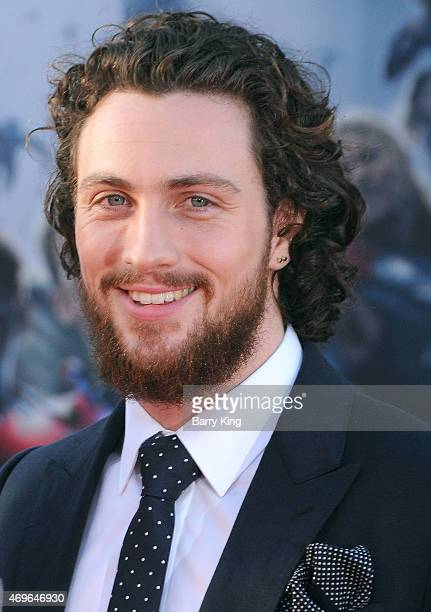 Actor Aaron TaylorJohnson arrives at the Premiere Of Marvel's 'Avengers Age Of Ultron' at the Dolby Theatre on April 13 2015 in Hollywood California