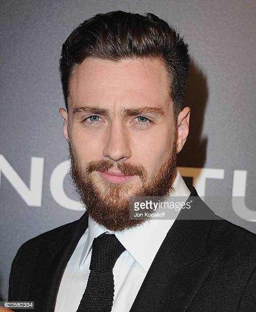 Actor Aaron TaylorJohnson arrives at the screening of Focus Features' Nocturnal Animals at Hammer Museum on November 11 2016 in Westwood California