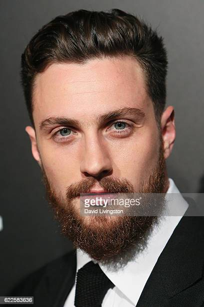 Actor Aaron TaylorJohnson arrives at the screening of Focus Features' 'Nocturnal Animals' at the Hammer Museum on November 11 2016 in Westwood...