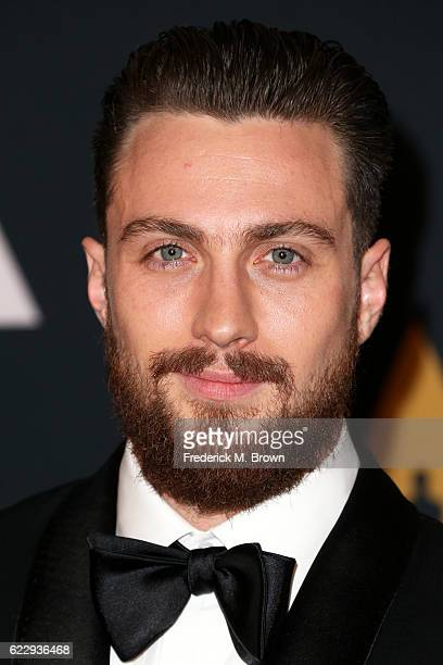 Actor Aaron TaylorJohnson attends the Academy of Motion Picture Arts and Sciences' 8th annual Governors Awards at The Ray Dolby Ballroom at Hollywood...