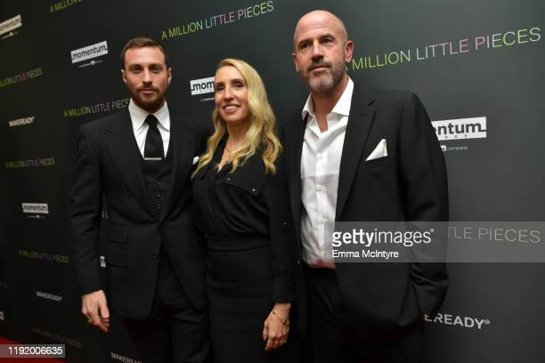 """Actor Aaron Taylor-Johnson, director Sam Taylor-Johnson and writer James Frey attend the special screening of Momentum Pictures' """"A Million Little..."""