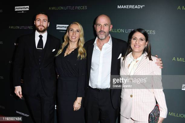 Actor Aaron Taylor-Johnson, director Sam Taylor-Johnson, author James Frey, and producer Pamela Abdy attend the special screening of Momentum...